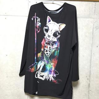 アンコロック(ankoROCK)のankoROCK ホラーナイトガイコツネコカットソー(Tシャツ/カットソー(七分/長袖))