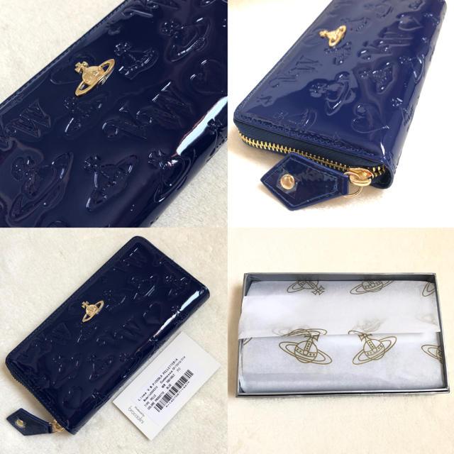 Vivienne Westwood(ヴィヴィアンウエストウッド)のヴィヴィアンウエストウッド 財布 正規品 新品 レディース ブルー エナメル レディースのファッション小物(財布)の商品写真