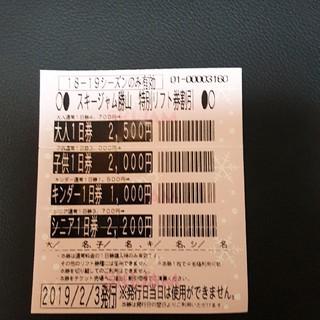 リフト券 ジャム勝 スキージャム勝山(ウィンタースポーツ)