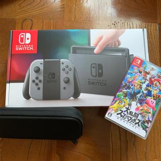 ニンテンドースイッチ(Nintendo Switch)の保証あり!Nintendo Switch&スマブラSP!(家庭用ゲーム本体)