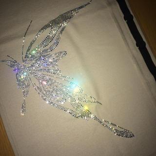 キリュウキリュウ(kiryuyrik)のキリュウキリュウ 総スワロフスキー蝶装飾巻きスカート ストールとしても可 美品!(ストール)