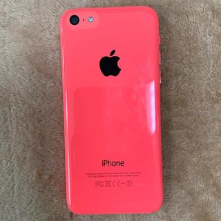 アップル(Apple)のiPhone5C ピンク 32B(スマートフォン本体)