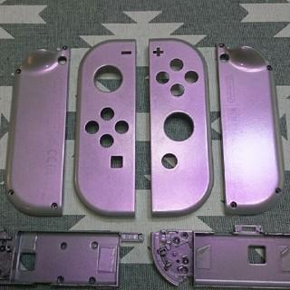 ニンテンドースイッチ(Nintendo Switch)のジョイコンカスタムLRパープルグリーン外装塗装  識別色変更可能(家庭用ゲーム本体)