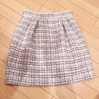 レッセパッセ(LAISSE PASSE)のレッセパッセ ♡ ツイードコクーンタイトスカート(ミニスカート)