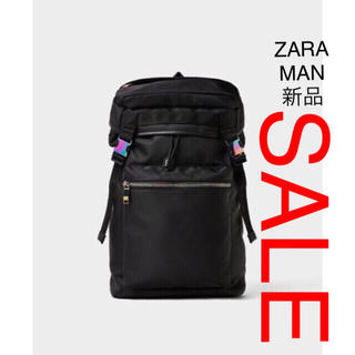ザラ(ZARA)のZARA MAN ソフト生地 バックパック ブラック(バッグパック/リュック)