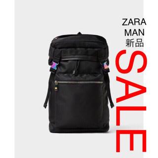 ZARA - ZARA MAN ソフト生地 バックパック ブラック