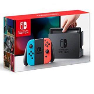 ニンテンドースイッチ(Nintendo Switch)の[新品未使用]Nintendo Switch本体 ネオンブルー/ネオンレッド (家庭用ゲーム本体)