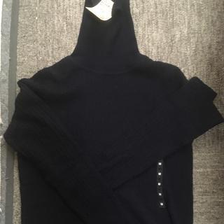ムジルシリョウヒン(MUJI (無印良品))の無印良品 洗えるタートルネット 新品 婦人(ニット/セーター)