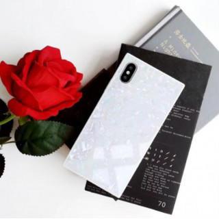 iphone7/8 iphoneケース パール(真珠貝)柄 シェル スクエア(iPhoneケース)