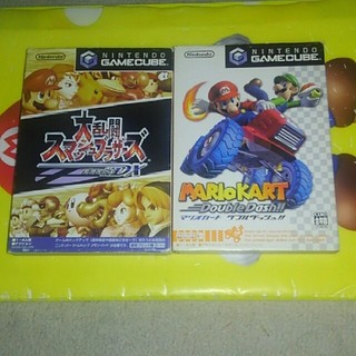 ニンテンドーゲームキューブ(ニンテンドーゲームキューブ)の大乱闘スマッシュブラザーズDX 、マリオカートダブルダッシュ!!(家庭用ゲームソフト)