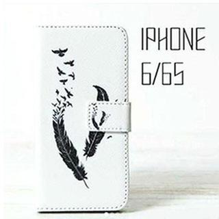 特別SALE!iPhone6/6s ケース 手帳型 羽根から鳥(iPhoneケース)