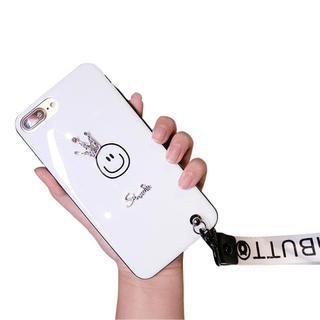 スマイル☺︎クラウン ストラップ iPhone7 8ケース(iPhoneケース)