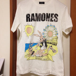 ザラ(ZARA)のRAMONES Tシャツ 未使用 ZARA MAN(Tシャツ/カットソー(半袖/袖なし))