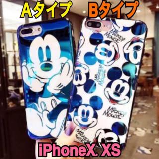 キラキラ✨【ミッキーiPhoneケース Bタイプ】iPhoneX.XS(iPhoneケース)