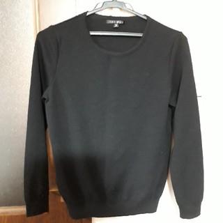 インディヴィ(INDIVI)のワールド インディビィ黒セーター美品🎵(ニット/セーター)