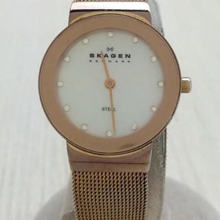 スカーゲン(SKAGEN)の【未使用】SKAGEN◆クォーツ腕時計/358SRRD/アナログ/WHT/GLD(腕時計)