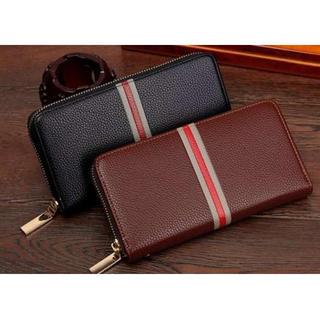 大人カラー メンズ シンプル 長財布 ラウンドファスナー  高品質   黒(長財布)