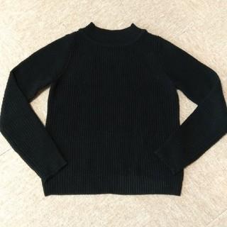 ジーユー(GU)のGU ショート丈 セーター ブラック(ニット/セーター)