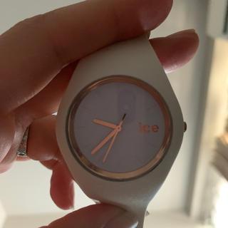 アイスウォッチ(ice watch)のice watch アイスウォッチ ホワイト×ピンクゴールド(腕時計)