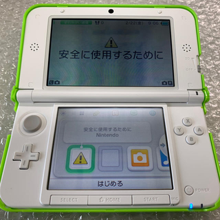 ニンテンドー3DS(ニンテンドー3DS)の任天堂 3DS LL  ミントXホワイト(携帯用ゲーム本体)