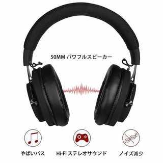 NUBWO N9D ゲーミング ヘッドセット ヘッドフォン マイク付き(ヘッドフォン/イヤフォン)
