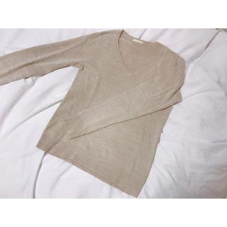 ジーユー(GU)の☆値下げ☆GU ベージュ 薄手セーター(ニット/セーター)