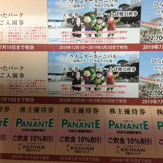 ケイハンヒャッカテン(京阪百貨店)のひらかたパーク    ペア  入荷待ち(遊園地/テーマパーク)