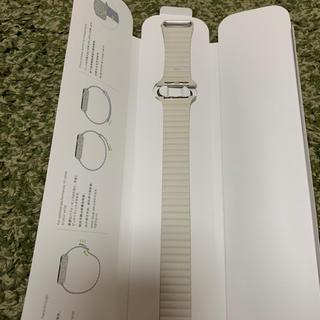 アップルウォッチ(Apple Watch)のアップルウォッチ 純正 レザー バンド 42 44mm(レザーベルト)