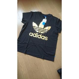 アディダス(adidas)のアディダスオリジナルス 新品タグつきTシャツ  黒ブラック 大きいサイズ(Tシャツ/カットソー(半袖/袖なし))
