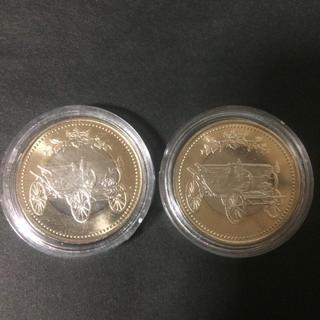 天皇陛下在位30年記念硬貨★500円硬貨2枚     ケース付き(貨幣)