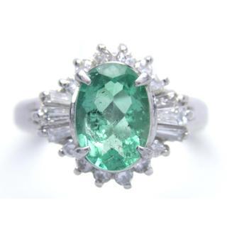 プラチナ エメラルド ダイヤモンド リング(リング(指輪))