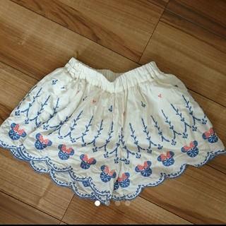 ディズニー(Disney)のミニー キュロット 刺繍(スカート)