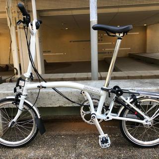 ブロンプトン(BROMPTON)の2019ブロンプトンM6R 最上位モデル パピルスホワイト 新品未使用定価22万(自転車本体)
