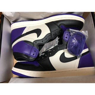 ナイキ(NIKE)のair jordan1 court purple(スニーカー)
