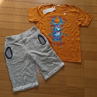 ジーユー(GU)のGU Tシャツ ハーフパンツ 2点セット 150(Tシャツ/カットソー)