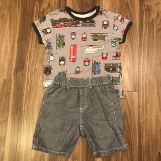 ユニクロ(UNIQLO)のユニクロ トーマス Tシャツ ハーフパンツ セット 90(Tシャツ/カットソー)