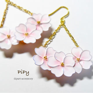 春の訪れ❀桜ゆらゆらピアス(ピアス)