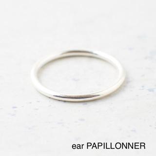 イアパピヨネ(ear PAPILLONNER)のweb限定【 イアパピヨネ 】シンプル シルバーリング 指輪 11号(リング(指輪))