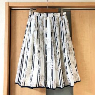 MERCURYDUO - 美品【MERCURYDUO】フラワー ストライプ スカート
