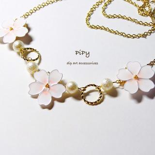 春の訪れ❀桜のネックレス(ネックレス)