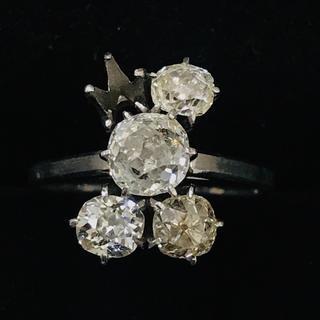 指輪 ダイヤモンドリング PM刻印 3.8g(リング(指輪))