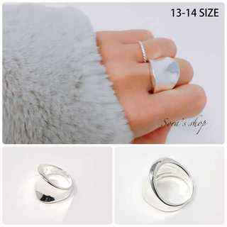 *wide silver ring S925[13-14号]*JER-002(リング(指輪))