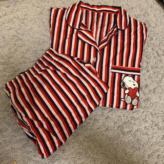 ジーユー(GU)のスヌーピー ジーユー 新品 パジャマ ストライプ(パジャマ)