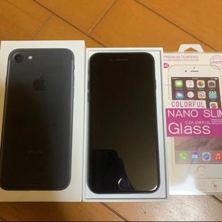 アイフォーン(iPhone)のiPhone7 128G ブラック 美品(スマートフォン本体)