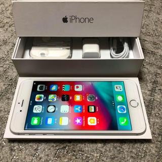 アイフォーン(iPhone)のiPhone 6plus 16gb シルバー au シムロック(スマートフォン本体)