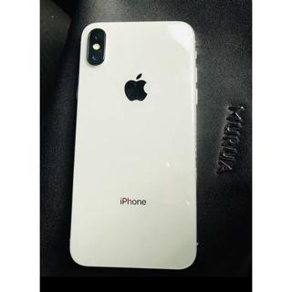 アップル(Apple)のiphonex silver 64GB SIMフリー(スマートフォン本体)