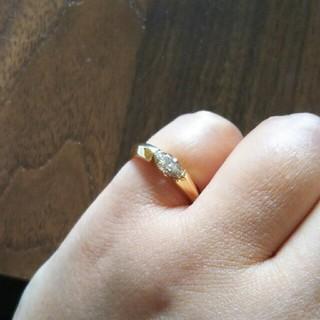 シャンパンブラウンカラーダイヤリング(リング(指輪))