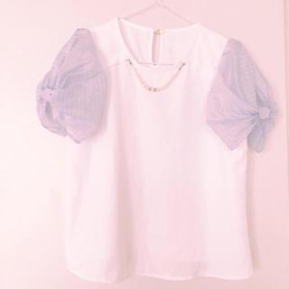 アベイル(Avail)の袖ふんわり ♡ ブラウス(シャツ/ブラウス(半袖/袖なし))
