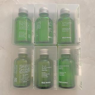 ムジルシリョウヒン(MUJI (無印良品))の無印良品 エッセンシャルオイル 6点セット まとめ売り 大容量 新品 30ml(エッセンシャルオイル(精油))