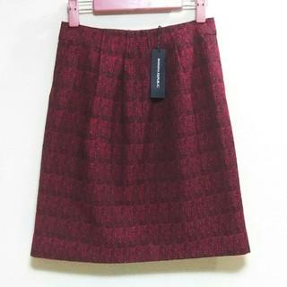 バナナリパブリック(Banana Republic)の新品 Banana Republic ツイードタイトスカート ボルドー サイズ0(ミニスカート)